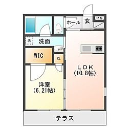KM-I[1階]の間取り