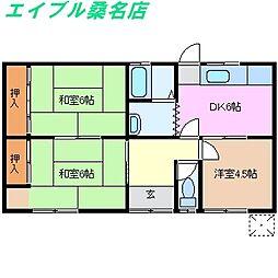 [一戸建] 三重県桑名市大字北別所 の賃貸【/】の間取り