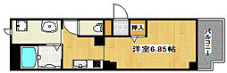 JR山陽本線 西明石駅 徒歩2分の賃貸マンション 1階1Kの間取り