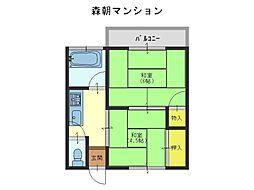 森朝マンション[3階]の間取り