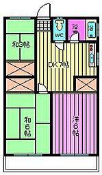 静和荘[102号室]の間取り