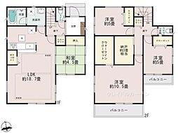 [一戸建] 千葉県流山市平和台5丁目 の賃貸【/】の間取り