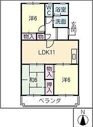 レジデンス神戸[3階]の間取り
