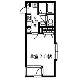 神奈川県横浜市磯子区上町の賃貸アパートの間取り