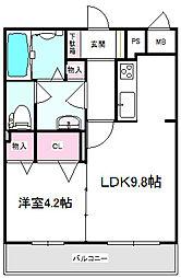 JR東海道・山陽本線 岸辺駅 徒歩3分の賃貸マンション 3階1LDKの間取り