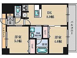 エステムコート新大阪9グランブライト[3階]の間取り