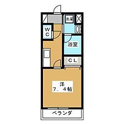 ベラジオ京都壬生 ウエストゲート[5階]の間取り