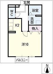 アマ・デトワールMK[2階]の間取り