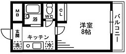 シャルマンリヴェール[1階]の間取り