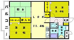 シーサイドアベニュー古賀[4階]の間取り