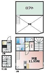 兵庫県神戸市灘区八幡町2丁目の賃貸アパートの間取り
