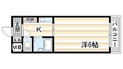 兵庫県神戸市中央区北野町3丁目の賃貸マンションの間取り