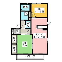 エクセル弓沢[2階]の間取り