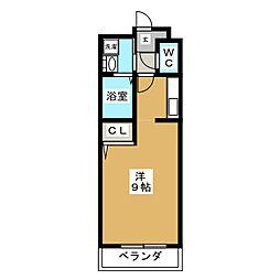 ビューティー藤ノ木[1階]の間取り