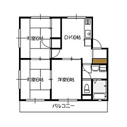 サコマンション[304号室]の間取り