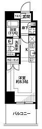 プレール・ドゥーク横浜サウス[8階]の間取り