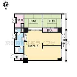 京都二条ハイツ1104[11階]の間取り