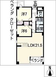コモド覚王山[3階]の間取り