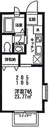 ビューテラス II[105号室号室]の間取り