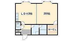 マンション桜[305号室]の間取り