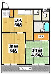 原第3マンション[107号室]の間取り