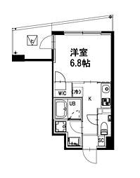 都営新宿線 曙橋駅 徒歩4分の賃貸マンション 3階1Kの間取り