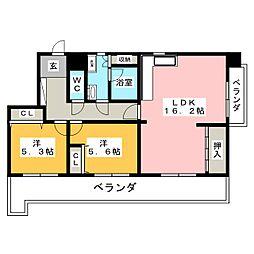 シティコーポ千代田[11階]の間取り