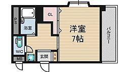 サンパレス第2新大阪[4階]の間取り