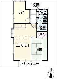 エレガンス武路[2階]の間取り