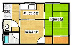 [一戸建] 静岡県三島市東本町1丁目 の賃貸【/】の間取り