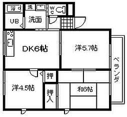 レトア1998 B棟[102号室]の間取り