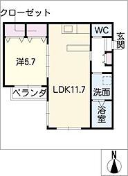 ワイズカナール[3階]の間取り