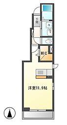 プリムローズA[1階]の間取り