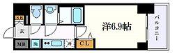 名古屋市営桜通線 丸の内駅 徒歩2分の賃貸マンション 10階1Kの間取り