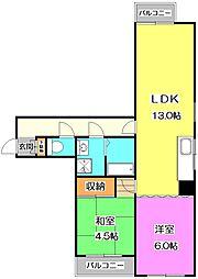 サン・ライズマンション[6階]の間取り