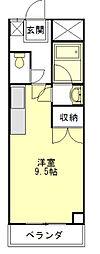 河芸マンション[3階]の間取り