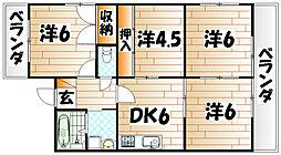 レイズ友田A棟[5階]の間取り