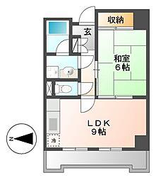 セキスイハイム徳川レジデンス(旧オーシャンハイツMIZUNO)[6階]の間取り