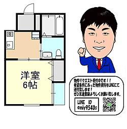 京阪本線 千林 徒歩9分 3階1Kの間取り