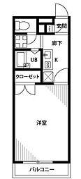 アンプルールフェールYoshida[306号室]の間取り