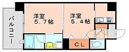 エンクレストネオ博多駅南[2階]の間取り