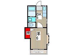 メイプルコート[1階]の間取り