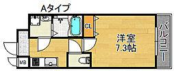 TOYOTOMI STAY PREMIUM 天王寺公園III 3階1Kの間取り
