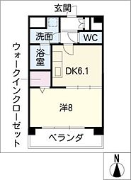 KOWA千年[4階]の間取り