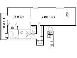 JR東海道線 摂津本山駅 3階建[2階]の間取り