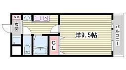JR東海道・山陽本線 朝霧駅 徒歩31分の賃貸マンション 3階1Kの間取り