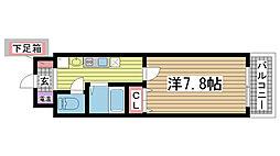 深江本町マンション[603号室]の間取り