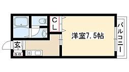 愛知県日進市岩崎町竹ノ山の賃貸アパートの間取り