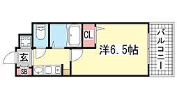 エステムコート三宮山手IIソアーレ[15階]の間取り