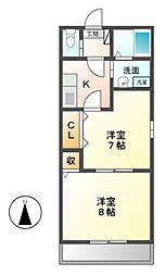 リハイムキャナル[2階]の間取り